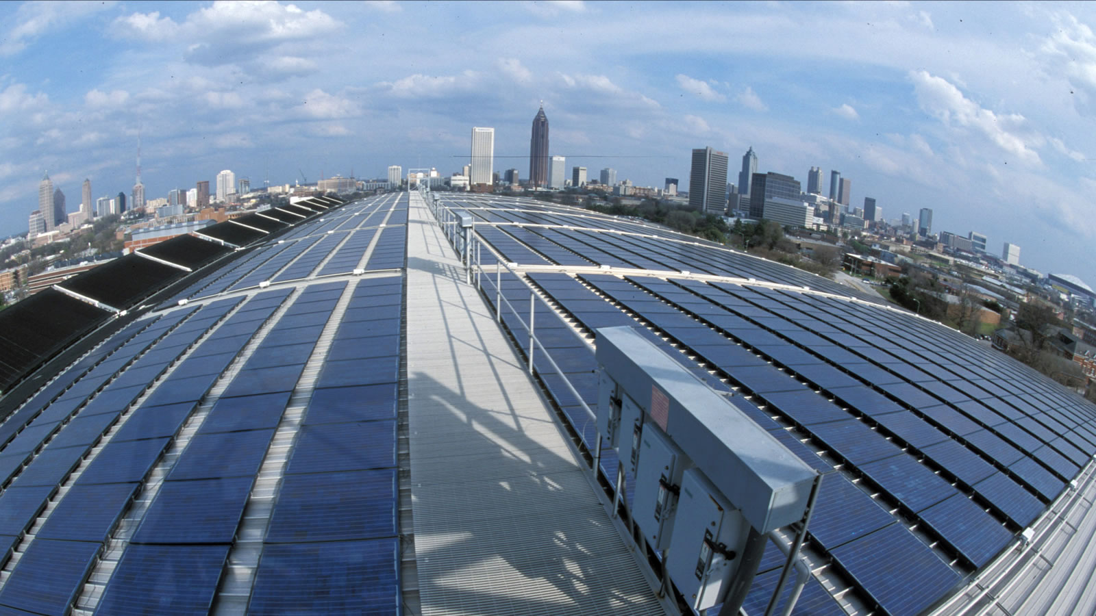 <h3>ATLANTA</h3><h5>Spurred on by our research and local action, Atlanta committed to go 100% renewable by 2035. We're asking a dozen other key cities to do the same.</h5><em>Georgia Tech Aquatic Center / WikimediaCommons.com</em>