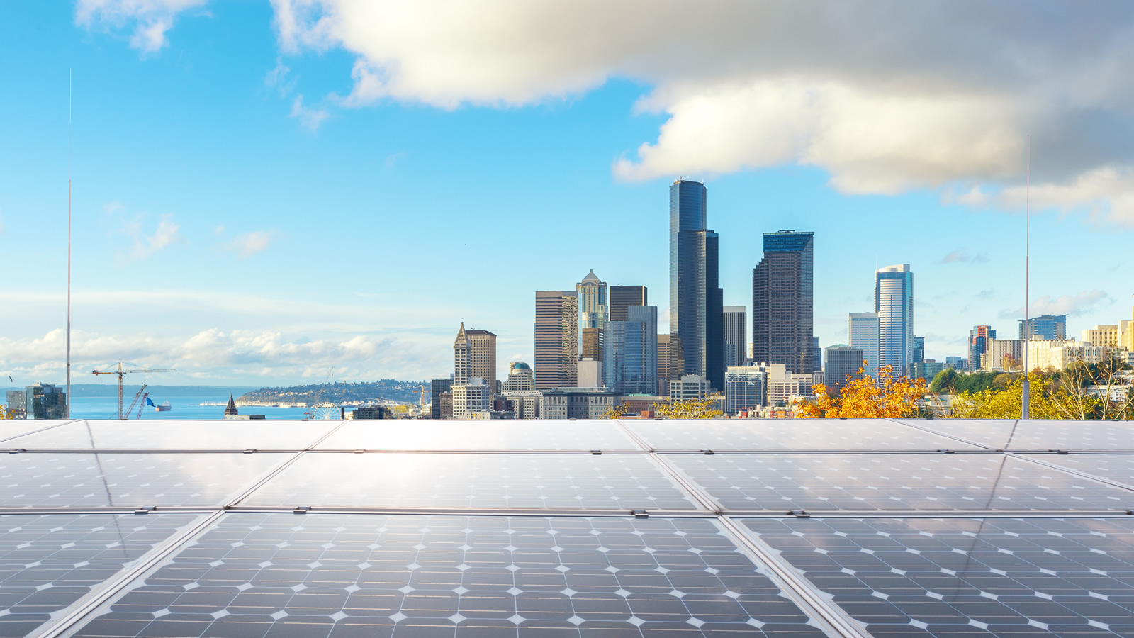 <h4>Renewables on the Rise</h4> <h5>Clean energy is sweeping across the nation and is poised for further dramatic growth in the years ahead.<br><br> <em>Los Angeles / zhu difeng via Shutterstock.com</em>